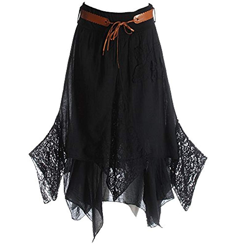 Hi Waisted Cotton Skirt