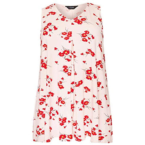 WOMENS FLORAL VEST TOP SWING