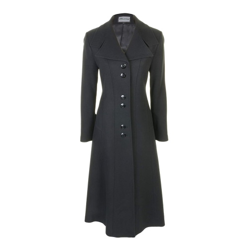 Womens Long-Coat Black