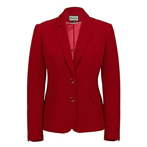 Women Suit Jacket Burgundy-Red