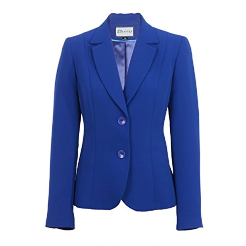 Women Suit Jacket Royal-Blue